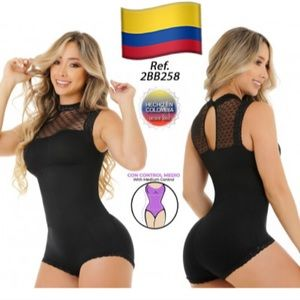 Black bodysuit with powernet